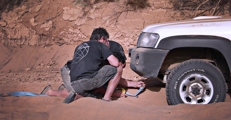 how to use a tow strap